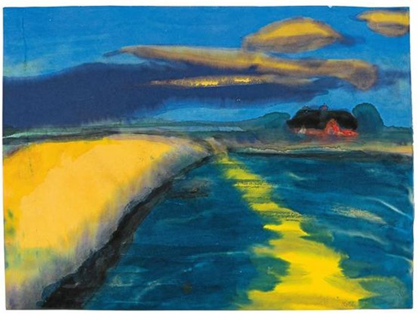 Landschaftsmalerei expressionismus nolde  Noldes leuchtende Heimat am Meer