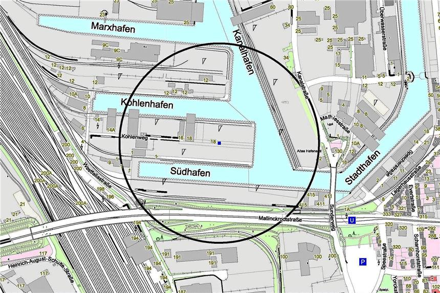 Fliegerbombe im Dortmunder Hafen gefunden - Entschärfung noch heute