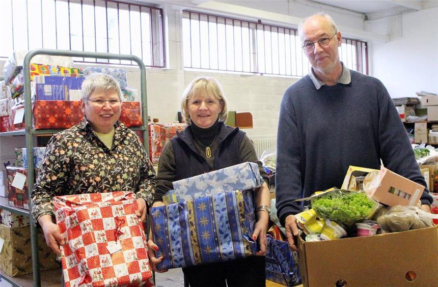 Weihnachtsgeschenke für Bedürftige