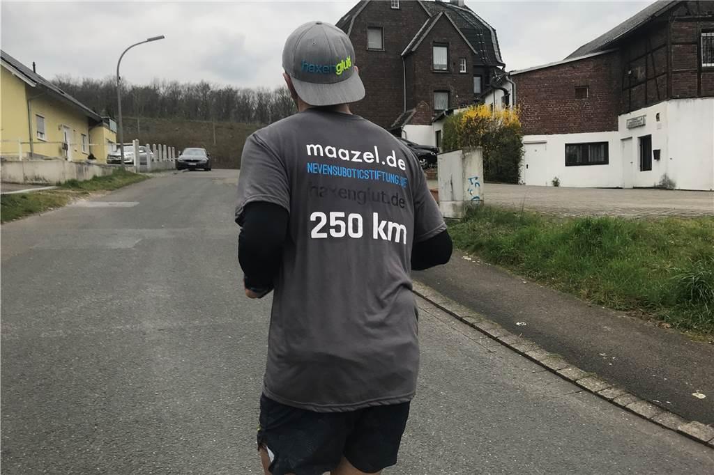 La course de levée de fonds que Marcel Martens a effectuée du dimanche au jeudi a duré 250 kilomètres.