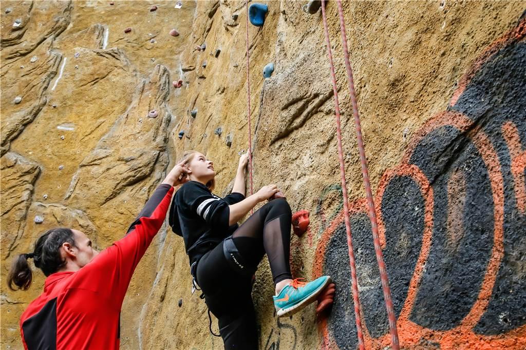 Kletterausrüstung Dortmund : Angst überwinden und muskeln aufbauen hand in geht beides