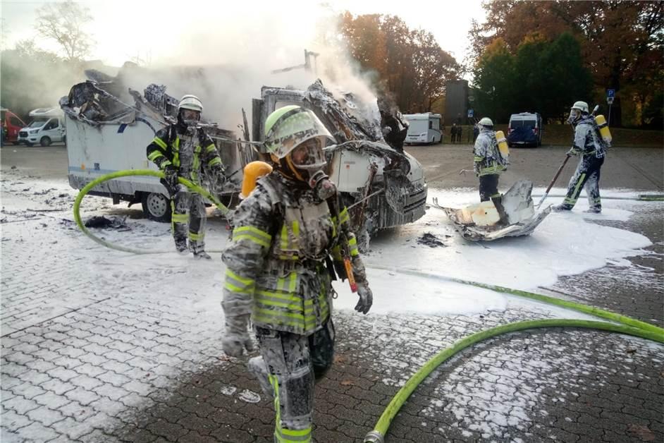 Ungewöhnlicher Umstand verhinderte beim Wohnmobilbrand noch Schlimmeres