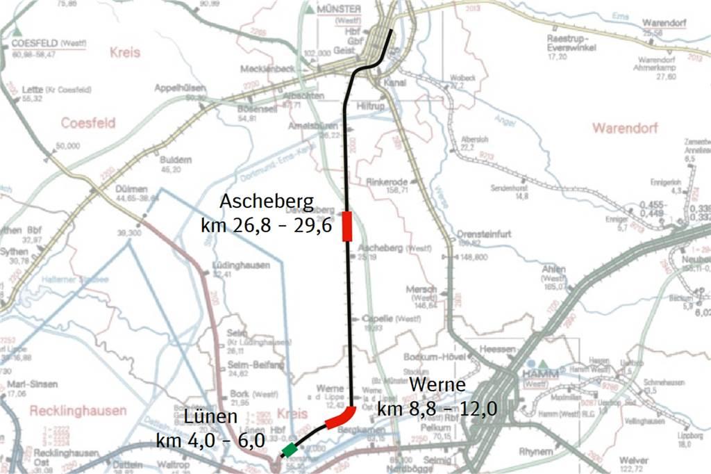 Gerücht Um Einjährige Sperrung Auf Der Bahnstrecke Zwischen Münster