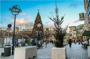 Dortmunder Weihnachtsmarkt Stände.Dortmunder Weihnachtsmarkt