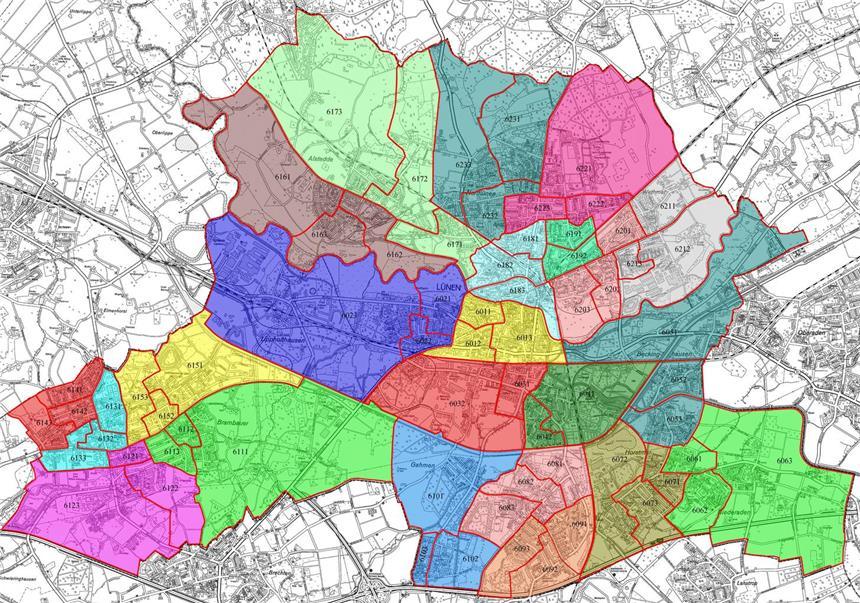 Wahlbezirke Dortmund