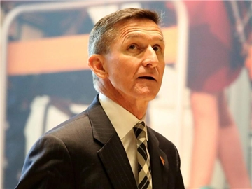 Ex-General Michael Flynn Mitte November in der Lobby des Trump-Towers in New York. Foto: Andrew Gombert