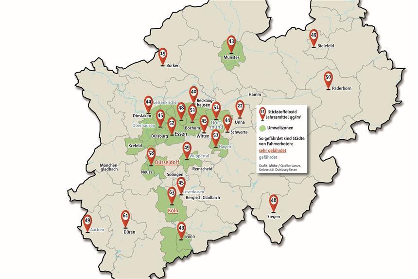 Fahrverbot Stuttgart Karte.Beim Thema Diesel Herrscht Dicke Luft