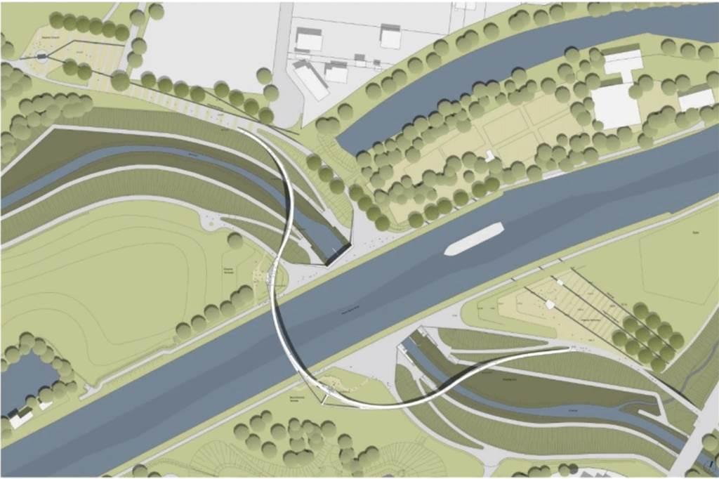 """Sprung über die Emscher: """"Silberpfeil"""" soll neue Landmarke entlang des Flusses werden"""