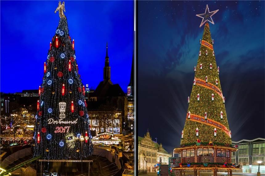 Dortmund Weihnachtsbaum.Dortmunds Weltgrößter Weihnachtsbaum Bekommt Konkurrenz Aus Herne