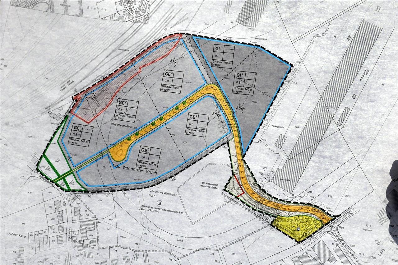 Zeitplan für Erschließung des Gewerbegebiets Wandhofener Bruch steht